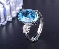Anillos QI xuan_blue камень Модные украшения Rings_Finger Rings_S925 Твердые щепка синий камень rings_manufacturer непосредственно продаж
