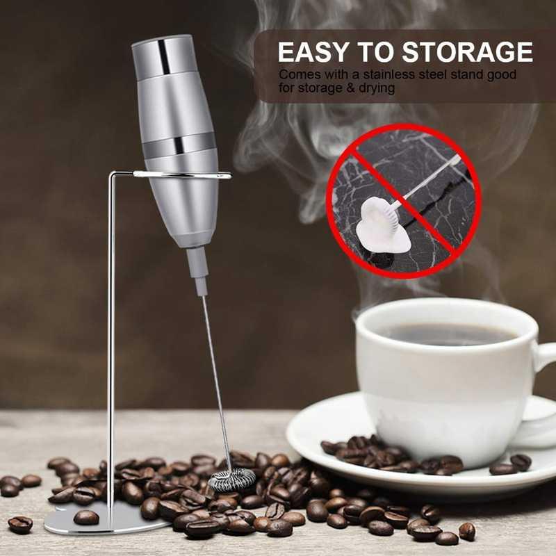Liquidificador o leite-Batedor de Leite, Handheld Elétrico Gerador De Espuma Para Fazer Lattes Café, Cappuccinos, Chocolates Quentes, como Desnatadeira Um