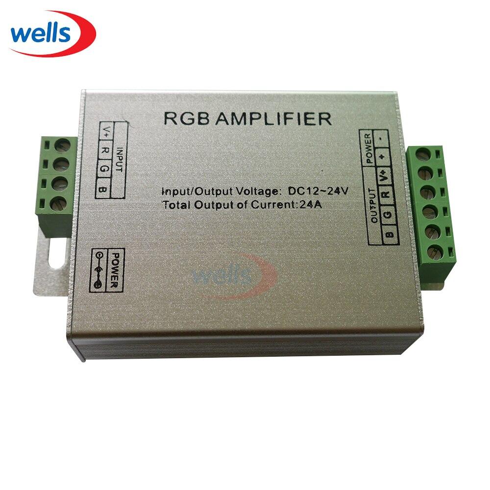 Zielsetzung Rgb Controller Signalverstärker Für 3528 5050 Rgb Smd Led Streifen 12-24 V 24a Rgb-controller