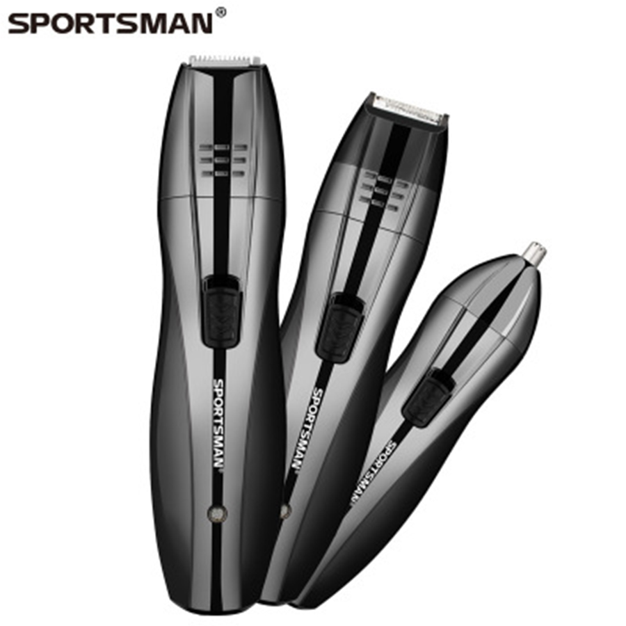 SPORTSMAN 3 in1 Professional electric hair trimmer rechargeable Nose Ear Sideburns Beard Hair Shaving Scraping Face Hair styling