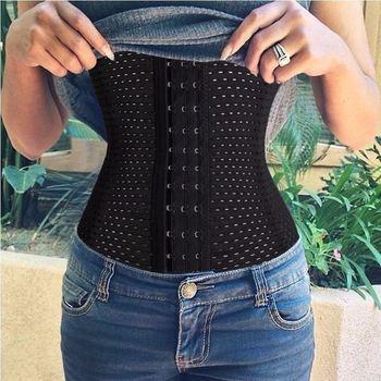 Corsets waist trainer cincher hot body shaper elasticated hot belt tummy girdle glass breathable ladies underbust.jpg 350x350