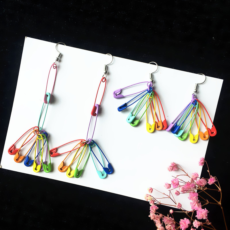 Rainbow Pins Earrings 5