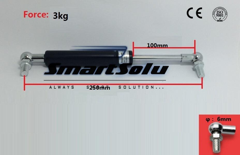 Free Shipping 2pcs/lot 250mm X 100mm X 3kg 30N Force Ball Studs Lift Strut Automotive Gas Spring 10.47 free shipping car gas spring 2 pcs lot