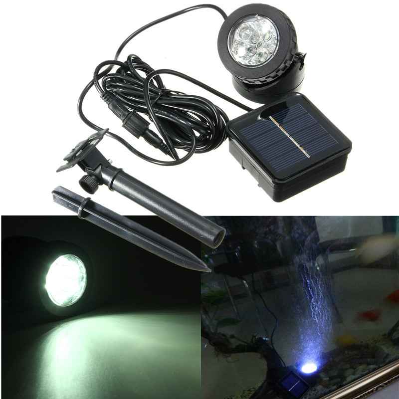 Solar Powered Super Bright Submersible Lamps Ip68 Spotlight Projection Lights For Garden Pool Pond Outdoor Underwater Light Led Lamps