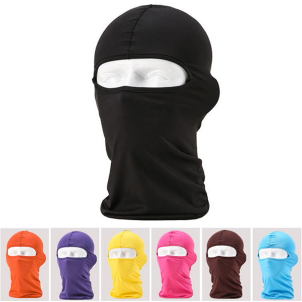 Outdoor Protection Full Face Lycra Balaclava Headwear Ski Neck Cycling Motorcycle Mask protective outdoor war game military skull half face shield mask black