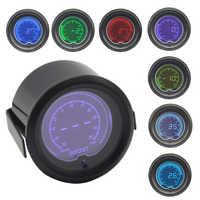 52mm 7 Color backlight Car Digital Auto Turbo Boost Gauge -30 In.Hg-35 PSI Meter With Sensor Turbo Boost Meter Pressure gauge