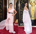 2014 86th Oscar Custom Made Penelope Cruz Floor Length Pink Red Carpet Celebrity Dresses