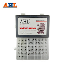 AHL 47pcs Motorcycle Engine Parts 7 48mm Adjustable Valve Shim Complete Refill Kit for Honda Suzuki