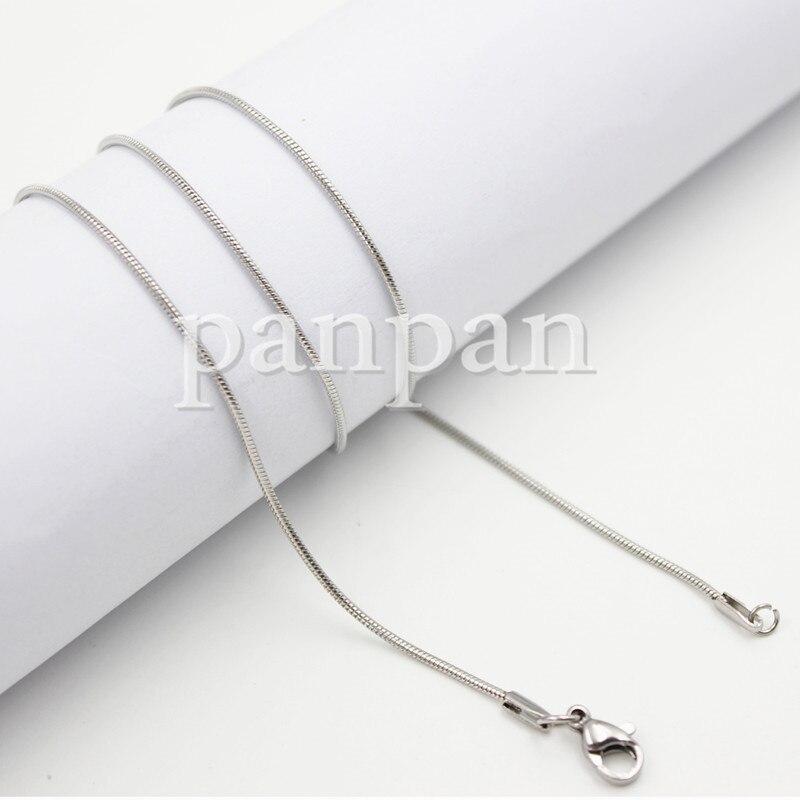 18 ''20'' 24 ''28'' 32 ''316 нержавеющая сталь 1,2 мм ширина ожерелье-цепочка змеиная кожа для кулон ювелирные изделия прозрачные медальоны