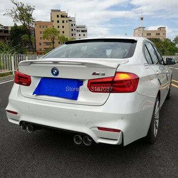 สำหรับ BMW M3 320i 323i 325i 328i สปอยเลอร์พลาสติก ABS Unpainted สีด้านหลังสปอยเลอร์ปีก Trunk Lip Boot Cover รถจัดแต่งทรงผม