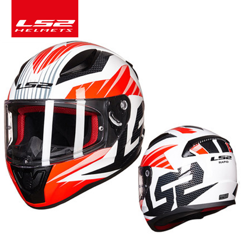 LS2 Rapid full face motorcycle helmet ABS safe structure better than FF320 casque moto capacete LS2 FF353 street racing helmets original ls2 ff353 full face motorcycle helmet high quality abs moto casque ls2 rapid street racing helmets ece approved
