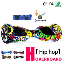 6.5 Inch Hoverboard Self Balancing Electric Scooter Electric Skateboard Smart Balance Board With Bluetooth Tas Remote Control(China)