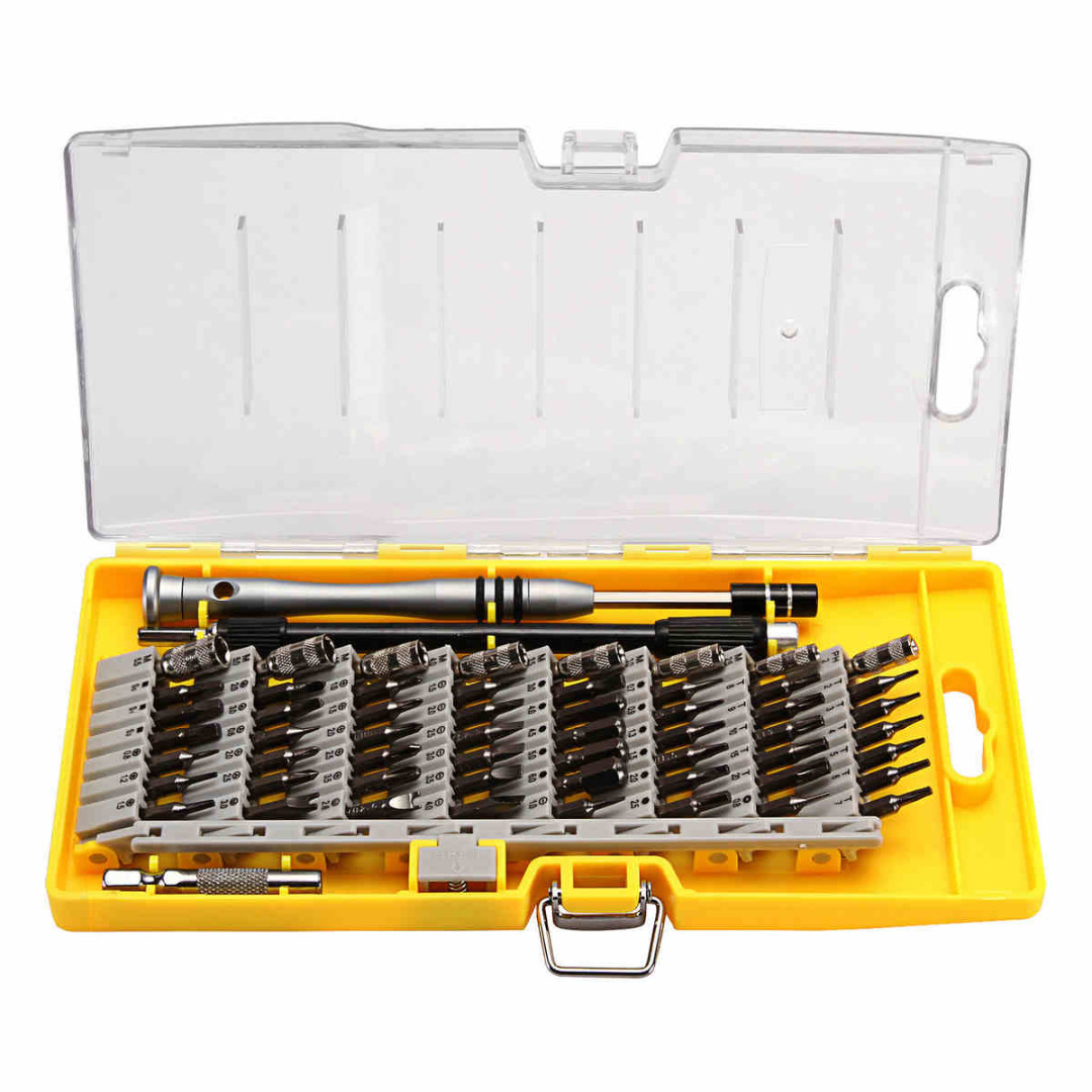 60 in 1 Precision Screwdriver Tool Kit Magnetic Screwdriver Set for Cell Phone Tablet Compact Repair Maintenance With Case