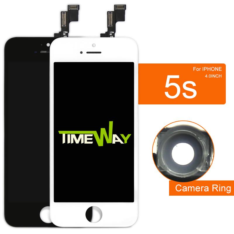 Prix pour 10 pcs affichage pour iphone 5s lcd digitizer avec écran tactile complet assemblée dhl