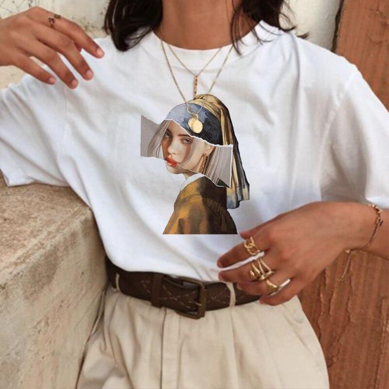 Spaß mode druck T-shirt parodie persönlichkeit mode Harajuku Neue sommer beiläufige lose S-2XL frauen kleidung Kawaii
