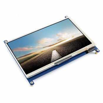 Waveshare 7 インチディスプレイ、 7 インチの HDMI 液晶 (C) 、容量性タッチスクリーン、 HDMI モニター、サポートラズベリー Pi モデル 2B/3B/3B + BB 黒