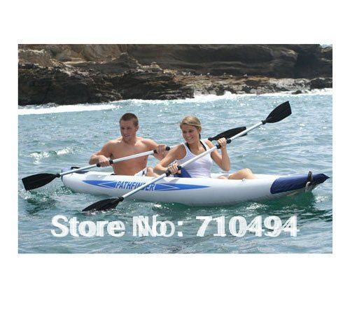 US $429 0  free DHL shipping JiLong PATHFINDER 2 Person inflatable kayak,  inflatable Kayak, inflatable drift canoe-in Rowing Boats from Sports &