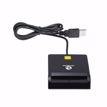 40pcs Zoweetek 12026-1 USB Smart Card Reader DOD Military USB Common Access CAC Smart Card Reader For SIM ATM IC ID Card