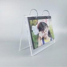 Desktop Clear Acrylic Lucite Calendar Holder Racks , Desk Calendar Stands YCD-001