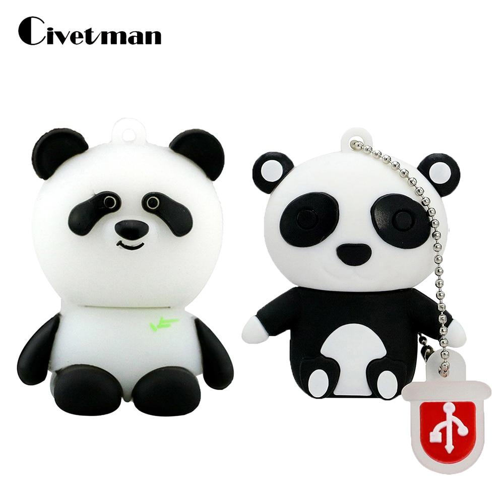 ᐃnovedad Animal Panda Usb Flash Drive De Dibujos Animados Pen