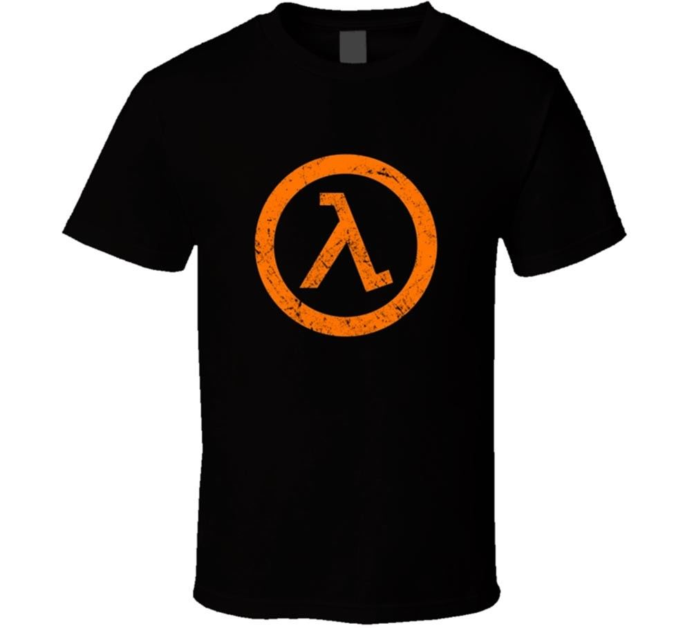 Men T-Shirt Men Clothing Plus Size top tee Half Life 2 Half Life 3 Video Game Mens Black T-shirt Tee Clothing New From US