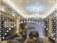 103*87 cm Arco trasparente tenda di perline perline di cristallo ottagono Avanzata palla Ananas pendente Un set completo di perline tenda