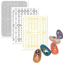 Newest HAXX-009 3d nail stickers Japan style decals template back glue DIY decorations tools for design art