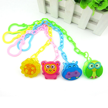 Cute Baby Pacifier Chain Baby Soothers Chain Clip Holder Feeding Product Animal Cartoon Baby Pacifier Anti Lost Chain