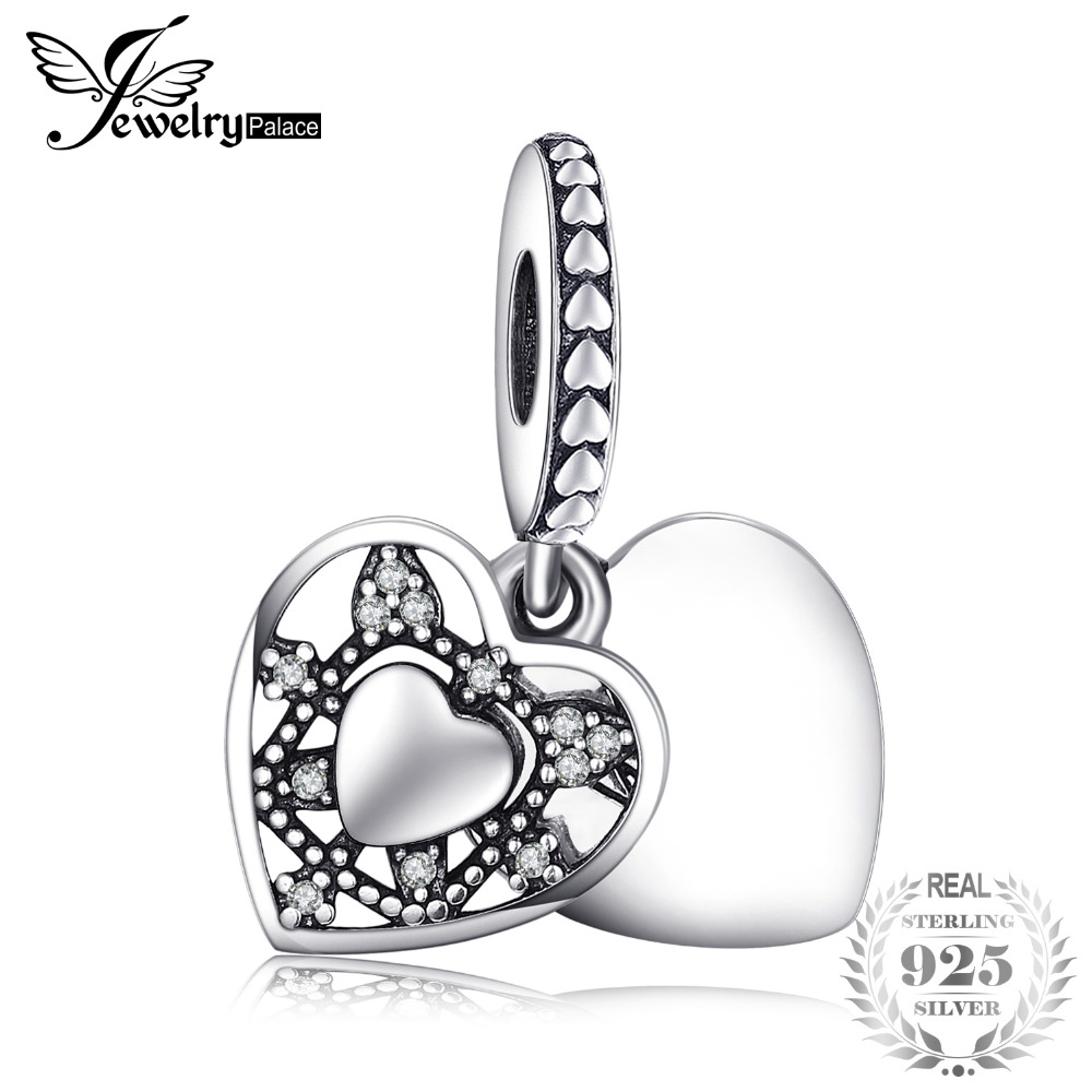 Jewelry & Accessories Jewelrypalace I Love My Husband Created Blue Nano Heart Genuine 925 Sterling Silver Charms Fit Bracelets Diy Pendant Jewelry