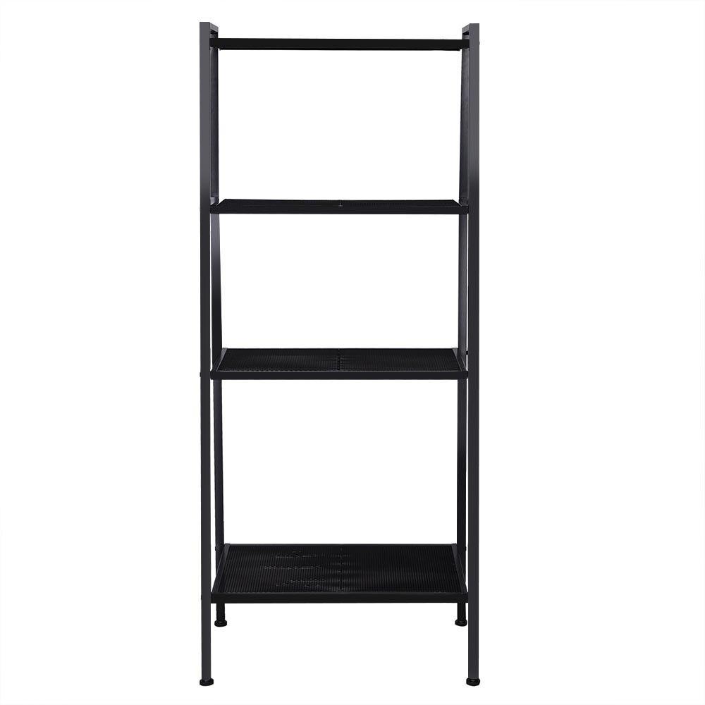 Home 35*35*145cm Ladder Shape 4 Tier Design Shelf Unit Bookshelf Bookcase Book Storage Display Rack Stand