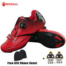Boodun Men Pro Road Cycling Shoes Breathable Bike Shoes Auto Locking Athletic Racing Bicycle Shoes Sneakers