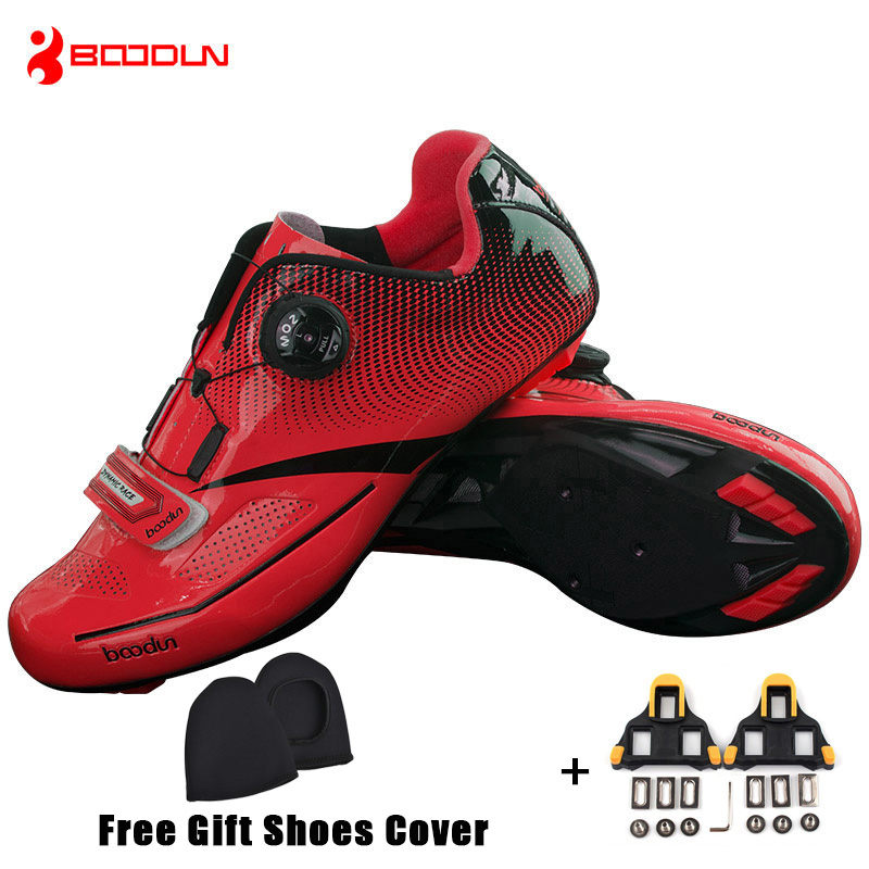 Boodun Men Pro Road Cycling font b Shoes b font Breathable Bike font b Shoes b