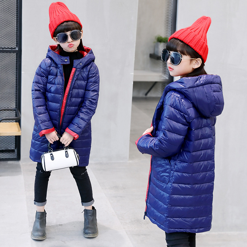 Girl 2017 new long slim down jacket winter for size 6 7 8 9 10 11 12 years child tide casual hooded coat outerwear baby boy and girl 2017 new korean thick down jacket winter for size 1 2 3 4 years child long coat kid tide casual outerwear