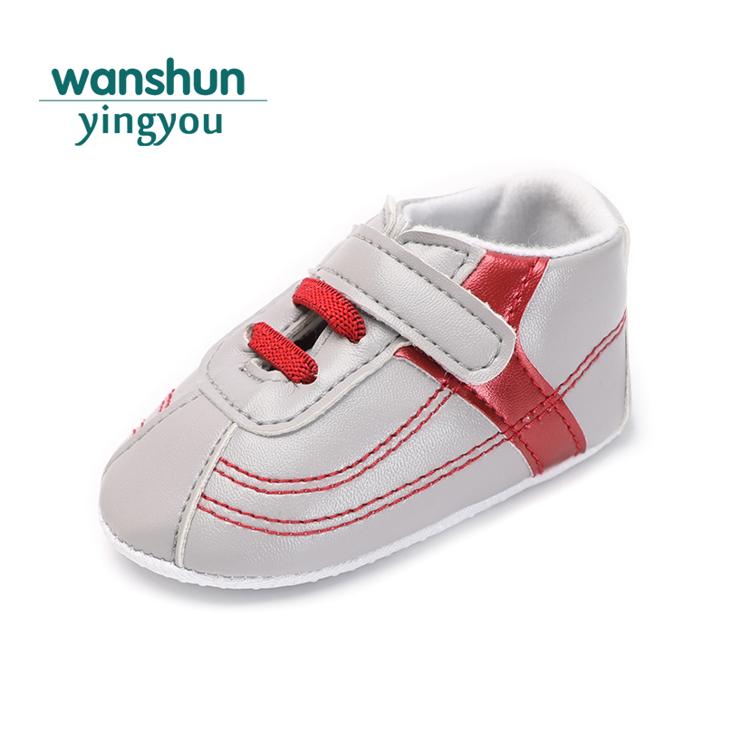 baby shoes newborn bebe boy girl 0-18 M crib shoes first walker hook loop moccasins moccs sneaker soft sole pu leather fashion