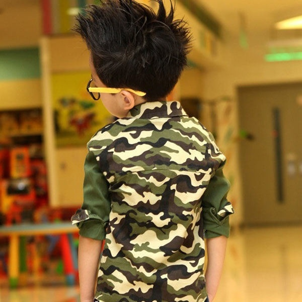 3d12d6cd Baby Boys Long sleeved shirts Cute Fashion Kids Korean Style Camouflage  Shirt Top T shirt TS0037-in T-Shirts from Mother & Kids on Aliexpress.com |  Alibaba ...
