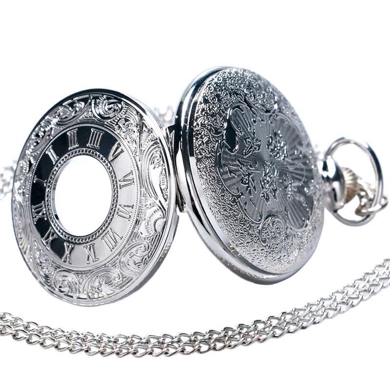 Купить с кэшбэком Vintage Charm Black Unisex Fashion Roman Number Quartz Steampunk Pocket Watch Women Man Necklace Pendant with Chain Gifts P427