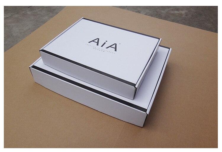 Brown/black Cardboard Necklace Packing Box Jewelry Pendant Display Box With Inside Card Custom Logo Moq 1000pcs