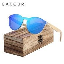 Barcur солнцезащитные очки кошачий глаз деревянные бамбуковые