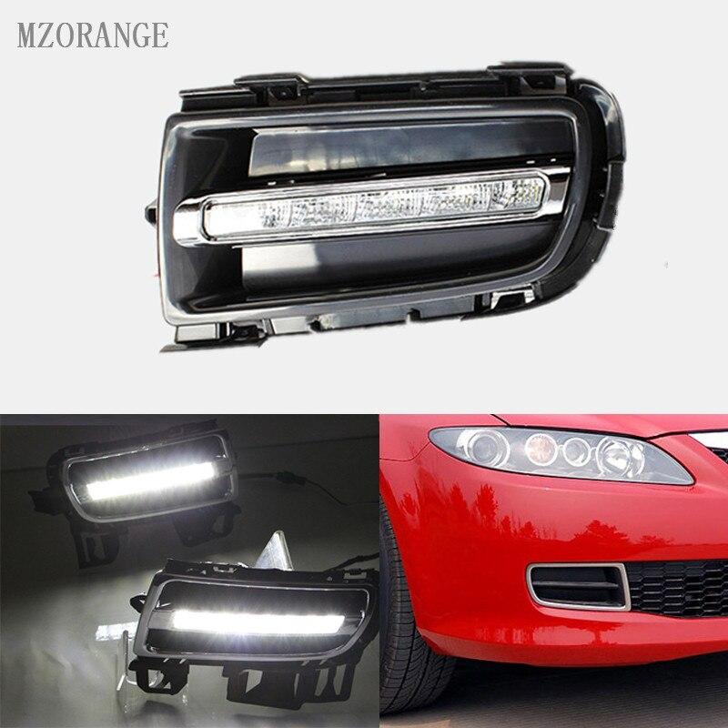 MZORANGE 2шт/Комплект для Mazda 6 Для Mazda6 2006 - 2009 LED Белый DRL дневного света дневной свет сигнальная лампа автомобиля-стайлинг свет