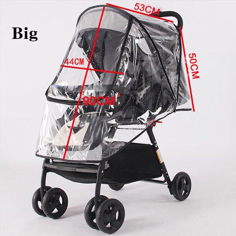 Waterdichte regenhoes voor kinderwagen accessoires Transparante Winddicht regenjas voor baby winkelwagen Rits opent Kinderwagens 4