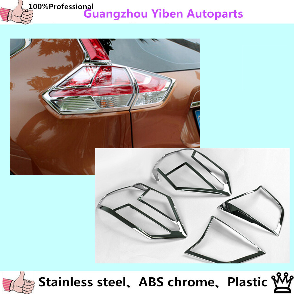 High quality rear tail light lamp detector frame stick styling abs chrome cover trim for nissan