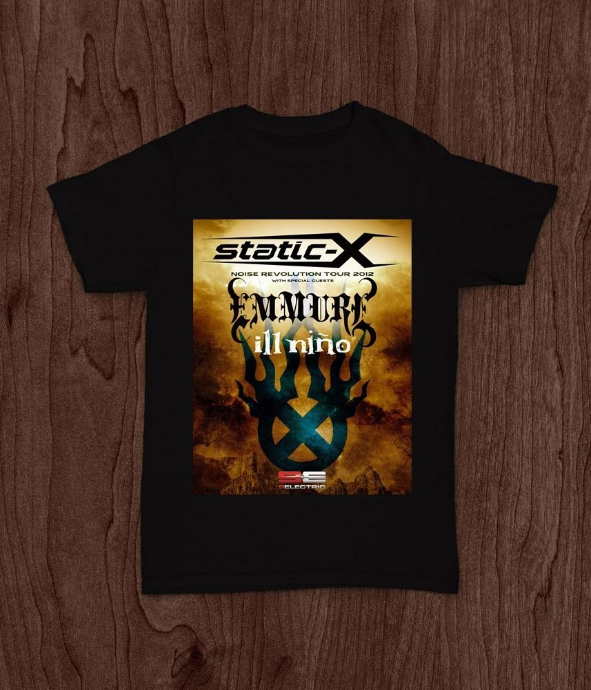 Design your own t shirt mens - Design Your Own T Shirt Short Printing Machine Static X Emmure Ill Nino Industrial Metal Band Soulfly O Neck Mens T Shirts