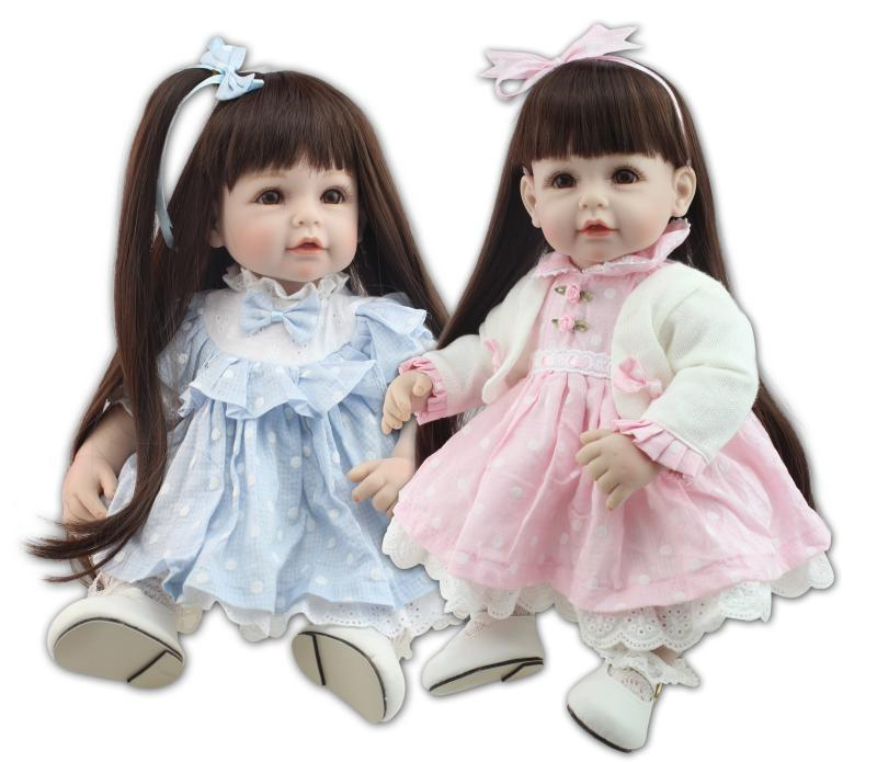 Silicone reborn toddler Baby doll toys for girl, 52cm lifelike princess dolls play house toy birthday christmas gift brinquedods 45cm american girl dolls handmade lifelike little toddler girls doll kids play house toy princess dolls collection