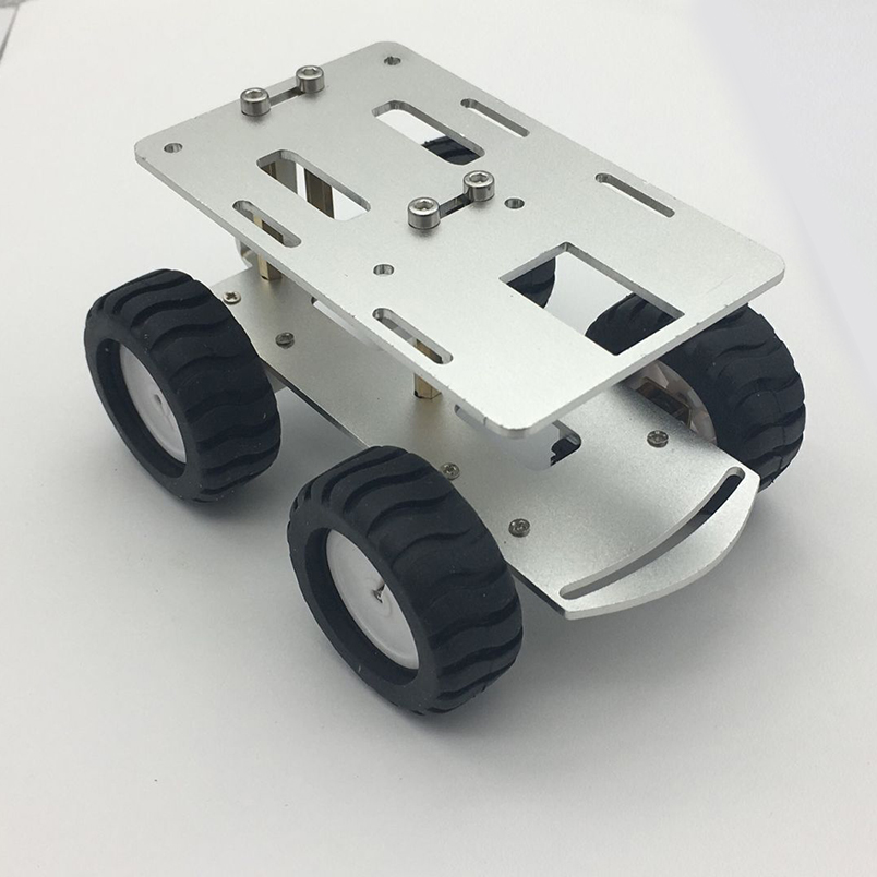 JMT Mini Intelligent Metal Car Chassis RC Tank Car Truck Robot CNC Alloy Body