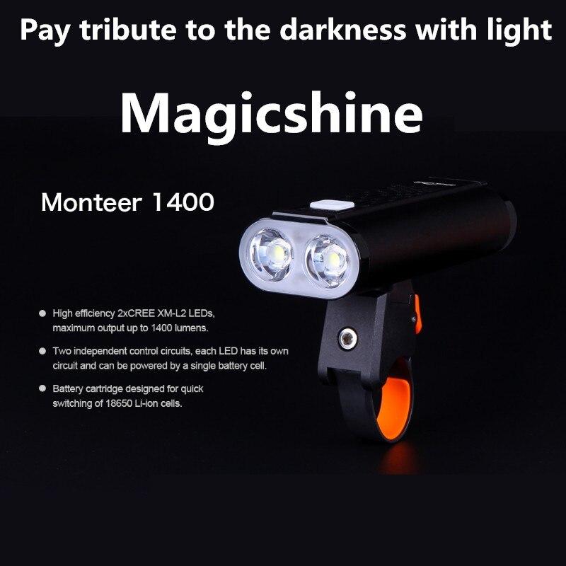 Magicien américain Monteer 1400 vélo lumière USB charge lampe de poche cyclisme étanche vélo phare compatible vtt vélo de route