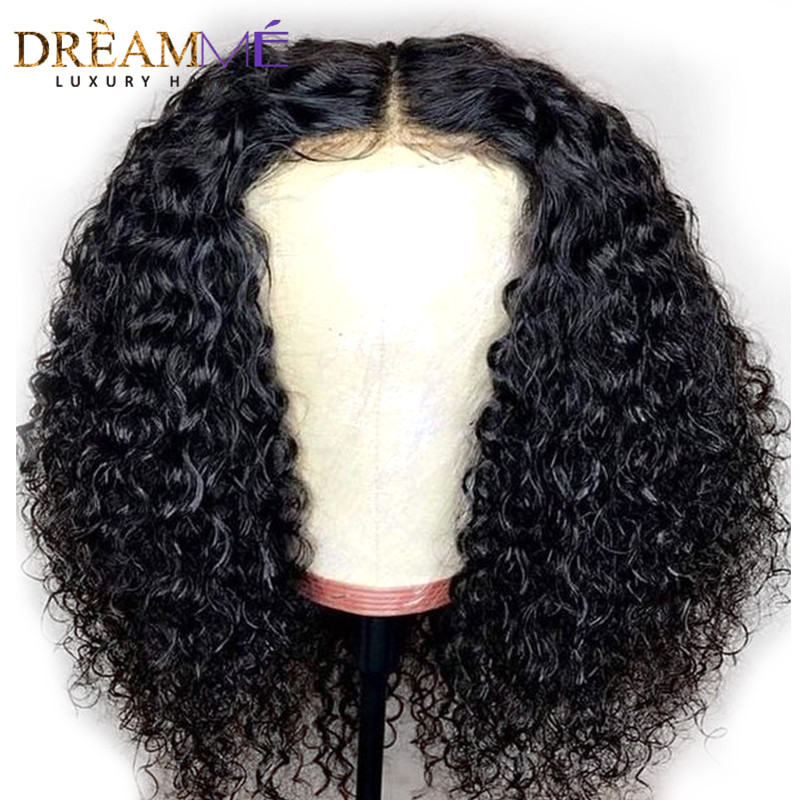 150 Density 13x4 Short Lace Front Human Hair Wigs With Baby Hair Brazilian Remy Hair Curly
