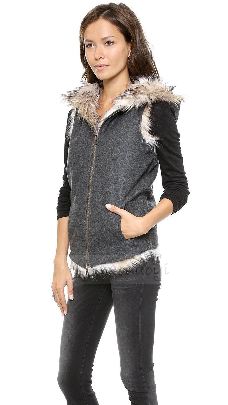 d7ff0c332df Women White Faux Fur Coat XS-2XL Manteau Fourrure Femme Medium-Long Plus  Size Parkas Synthetic Haircoat Casaco Pele USD 46.50 piece