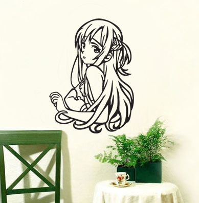 SAO Sword God domain - Asia Sina wall stickers glass stickers comic book stickers study living room bedroom paste