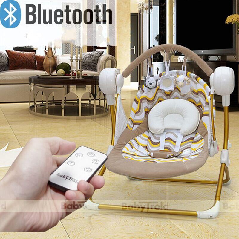 Chaise berçante bébé électrique panier de couchage bébé automatique Bluetooth play berceau bébé Auto-balancelle