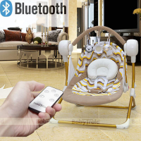 Electric baby rocking chair automatic baby sleeping basket Bluetooth play Auto swing baby cradle